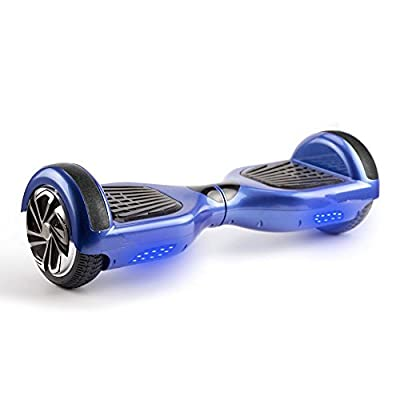 UL2272 Certified Smart Self Balancing Hoverboard Personal Adult Transporter with LED Light- Blue from Shenzhen IMUSE Technology Ltd