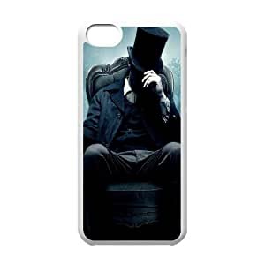 iPhone 5c Cell Phone Case White Abraham Lincoln in Mist SLI_669751