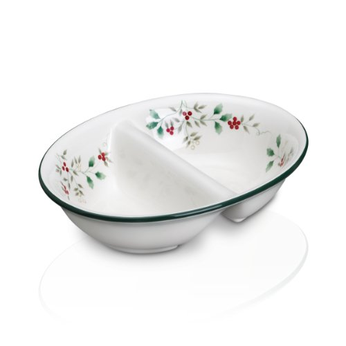 Pfaltzgraff Winterberry Divided Oval Vegetable Bowl