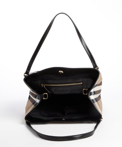 5748f562ee44 Amazon.com  Burberry Bridle House Check Small Canterbury Tote  Clothing