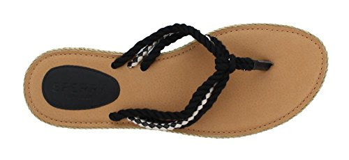 Coy Black Flat Anchor Us boxed Sandal 6 M Women's Sperry 5 xgAnp4A