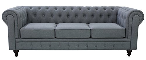 us pride furniture s5070s linen fabric sofa set grey