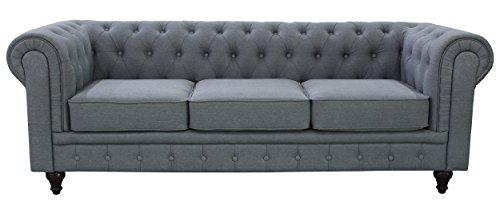 US Pride Furniture S5070-S Linen Fabric Chesterfield Sofa Set, ()