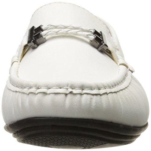 Cinturino Percy-intrecciato Da Uomo Stacy Adams Guida Moc Oxford Bianco