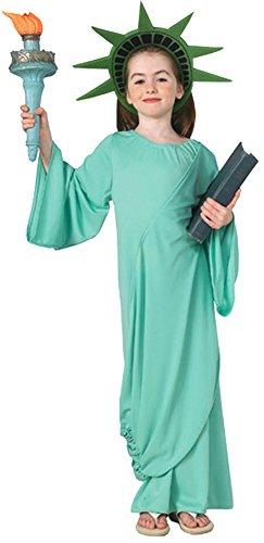 Girls - Statue Of Liberty Kids Costume Lg Halloween Costume -