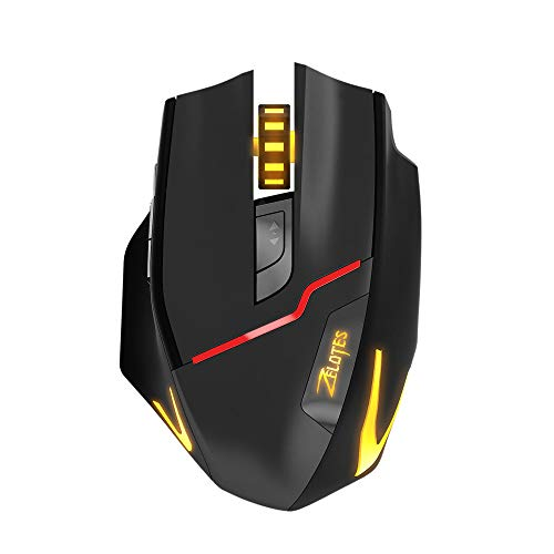 HAHAP Wireless Mobile Optical Mouse,ZELOTES F-18 Dual-Mode Gaming Mouse6 Level 3200DPI 500Hz Wired/Wireless 7 Color,PC,Computer,Chromebook,MacBook,Notebook.