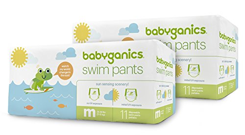 Babyganics Swim Pants, 22 Diapers, Medium