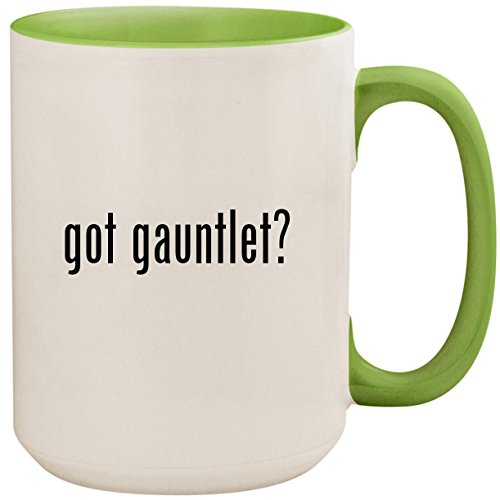got gauntlet? - 15oz Ceramic Colored Inside and Handle Coffee Mug Cup, Light Green