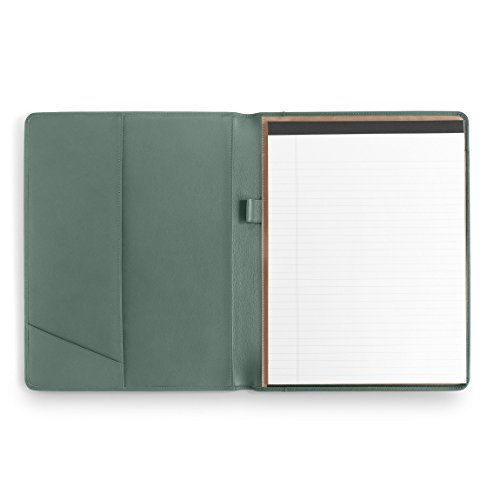 Leatherlogy Standard Padfolio with Pen Loop - Full Grain Leather Leather - Dusk (blue) Leather Padfolio Pen