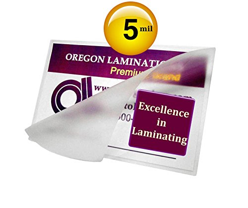 5 Mil Hot 3 x 4 Laminating Pouches Hunting & Fishing License [Pack of 50] 3x4 Clear by Oregon Lamination Premium