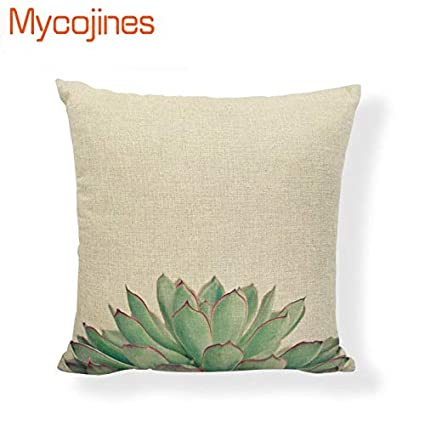 Amazon.com: Customized Cushion Cover Tropical Cactus Summer ...