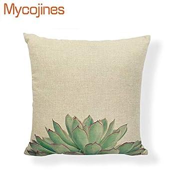 Amazon.com: Customized Cushion Cover Tropical Cactus Summer ...
