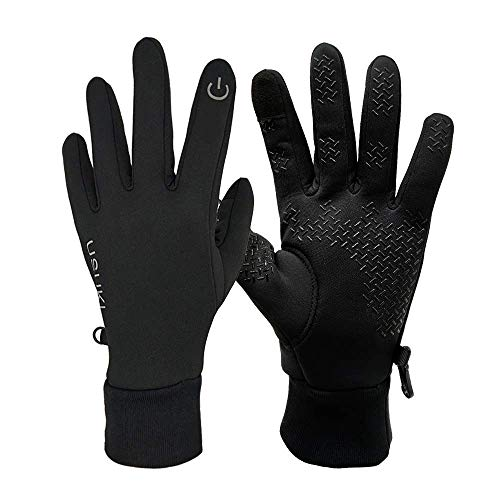 Touch Screen Gloves Unisex Winter Outdoor Warm Cycling Gloves Sporting Anti Slip Thermal Gloves for Men and Women (L)