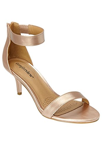 Comfortview Womens Wide Stevie Sandaal Rose Goud