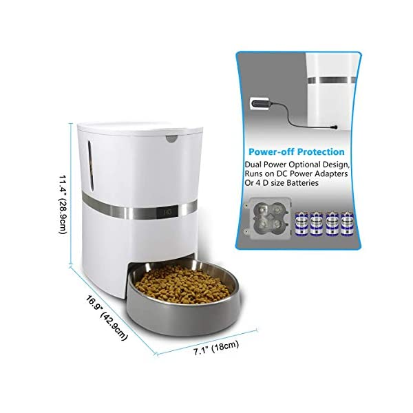 HoneyGuaridan A36 Automatic Pet Feeder, Dog, Cat, Rabbit & Small Animals Food Dispenser with Stainless Steel Pet Food… Click on image for further info. 5