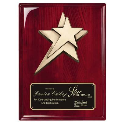 Order Fast Awards Premium 2 Heavy Cast Shooting Stars Plaque 8