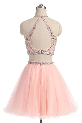 Lx206 Belle House Gowns Prom Halter Chiffon Ball Party Homecoming Juniors blush Dresses pvwqxnZgHp