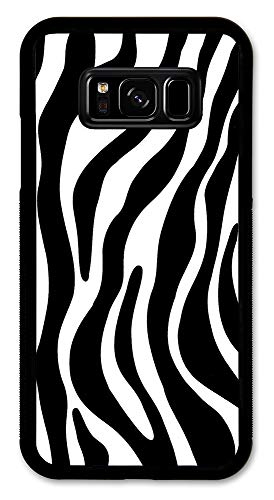 Samsung Galaxy S8 Case, Slim Fit - Hard Shell Rubber - Full Protective Cover for Samsung Galaxy S8 - Zebra Print Switch Plate