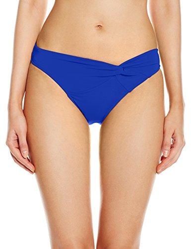 JETS by Jessika Allen Women's Jetsets Asymmetrical Twist Front Bikini Bottom,Oceanic,US 8 / AUS 12