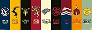 Game of Thrones House Sigils TV Poster 36x12