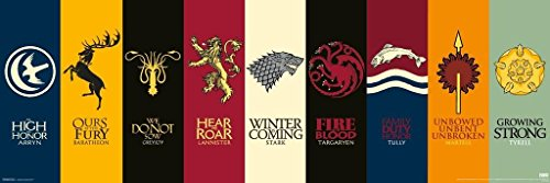 Pyramid America Game of Thrones House Sigils TV Poster 36x12 inch