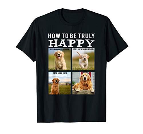 Funny Cute Golden Retriever Face - Happy Dog Mom Life Shirt T-Shirt