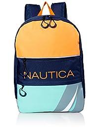 Nautica Little Kids - Mochila con cierre frontal diagonal de tamaño completo