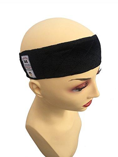 GEX Wig Grip Adjustable Elastic Comfort Headband Hook and Loop Fastener Adjustable Wig Band (Black)