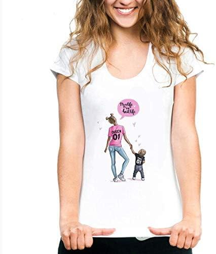 ADSIKOOJF Camisetas para Mujer Mothers Love Print Camiseta Blanca ...