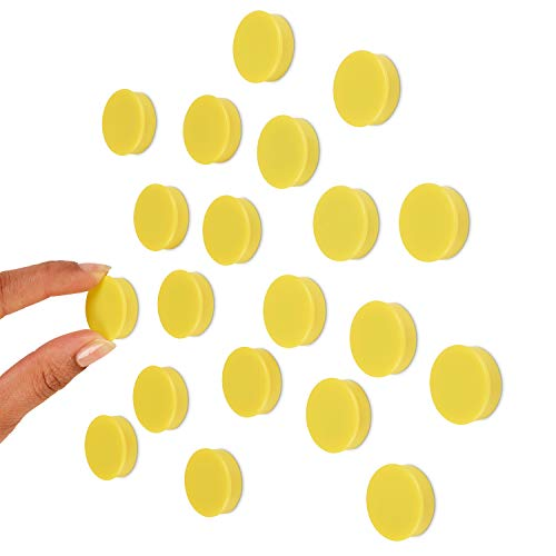 - Scribble 1 Inch Yellow Office Magnets (20 Pack), Colorful Round Refrigerator Magnets, Perfect for Whiteboards, Lockers & Fridge.