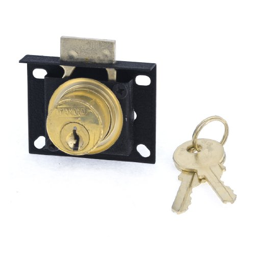 Cabinet Kits Curio (uxcell Cabinet Display Case Showcase Single Glass Door Lock Black Gold Tone)