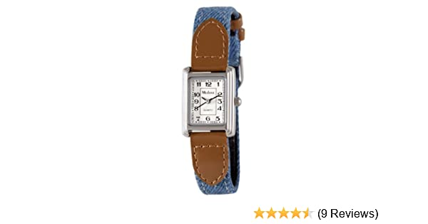 Amazon.com: Medana Womens Silver-Tone Denim Strap Watch # 6430SX: Watches