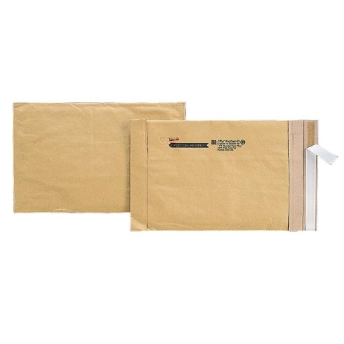 Box Partners #000 Padded Mailers, 4'' x 8'' Kraft - Price is per Case