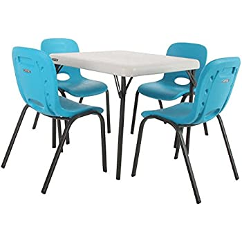 Amazon Com Lifetime Kids Table And Chair Set Glacier