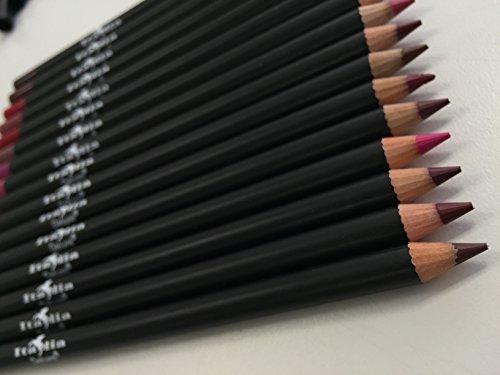 12pc Italia Deluxe Ultra Fine Lip Liner set of 12 color