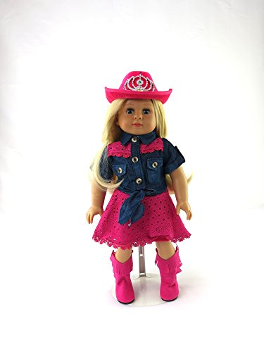 (Pink Cowgirl 4 PC Outfit | 18 inch American Girl Doll)