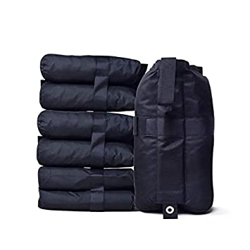 Julujiao Tech Canopy Weight Bags 8 PCS Sand Bags Industrial Grade Weights Bag Leg Weights for Pop up Canopy, Outdoor Shelter, Instant Shelter with Strong Velcro Seals, Large Capacity 30lb 8