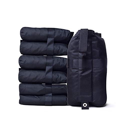 Bunny Ears Canopy Weight Bags Sand Bags Industrial Grade Weights Bag Leg Weights for Pop up Canopy, Outdoor Shelter, Instant Shelter with Strong Velcro Seals, Large Capacity 30lb of Each 4PCS