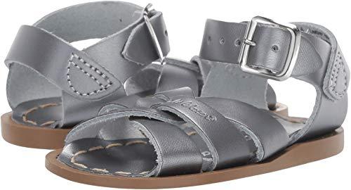 Salt Water Sandals by Hoy Shoes Baby Girl's The Original Sandal (Infant/Toddler) Pewter 8 M US Toddler