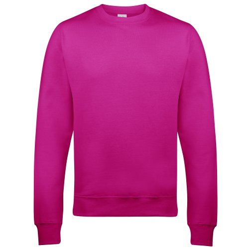 Awdis Just Hoods Unisex Crew Neck Plain Sweatshirt (280 GSM) (S) (Hot -