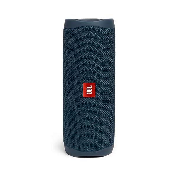 JBL Flip 5 Enceinte Bluetooth Portable avec Batterie Rechargeable, Étanche, Compatible Siri et Google, Bleu 1