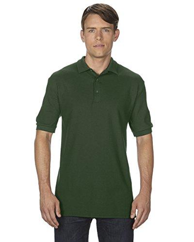 Adult Cotton Pique Polo (Gildan 82800 Premium Cotton Adult Double Pique Polo - Forest Green, Medium)