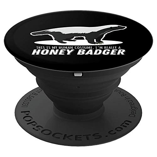 Honey Badger Costume Animal Clothing Apparel Art Gift Kids PopSockets Grip and Stand for Phones and Tablets ()