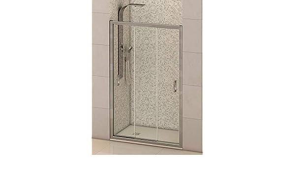 Mampara de ducha frontal 3 hojas correderas con cristal ...