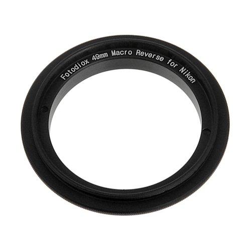 Fotodiox RB2A 49mm Filter Thread Lens, Macro Reverse Ring Camera Mount Adapter, for Nikon D1, D1H, D1X, D2H, D2X, D2Hs, D2Xs, D3, D3X, D3s, D4, D100, D200, D300, D300S, D700, D800, D800E, D40, D50, D60, D70, D70S, D80, D40X, D90, D3000, D3100, D3200, D5000, D5100, D7000, Fuji S1, S2, S3, S5 from Fotodiox
