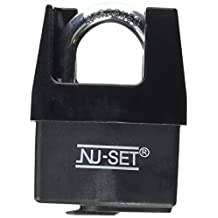 NU-SET 5361-3 Steel Padlock with Weather-Proof Cover and Shrouded Shackle, 2-1/2-Inch