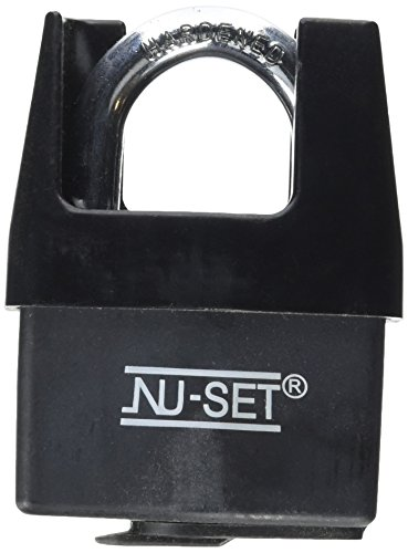 NU-SET 5361-3 Steel Padlock with Weather-Proof Cover and Shrouded Shackle, (Cover Padlock)