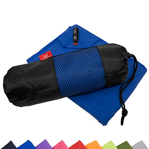9HORN Microfiber XXL Bath Towel with Bag Quick Dry & Lightweight for Travel Camping Sports Beach Yoga Swimming Gym]()