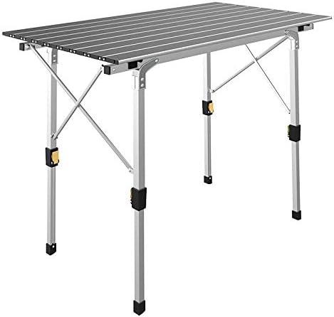 IKAYAA Mesa Plegable De Aluminio Portátil para Picnic, Camping ...
