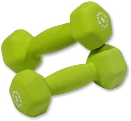 Pair of 3lb. Neoprene Dumbbells – Green